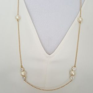 New kate spade Pearl Delight Station Necklace